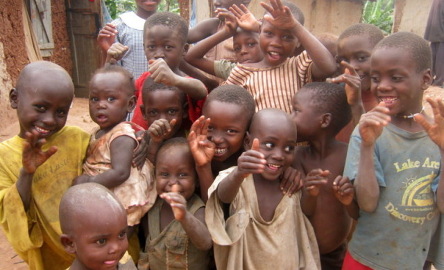 Needy children in Uganda